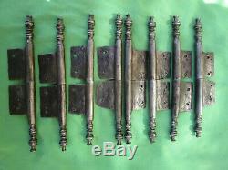 8 fiches à larder complètes fer turlupée Louis XV ancien Haut 24 cm porte meuble