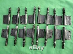 8 fiches à larder fer forgé turlupée Louis XVI ancien hauteur 20 à 20,6cm portes