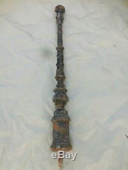 97 cm Ancien poteau de départ ou d'arrivée d'escalier, en fonte XIXème