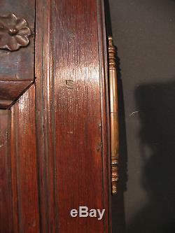 ANCIENNE PAIRE DE PORTES D'ARMOIRE EN CHENE avec fiches pour placard