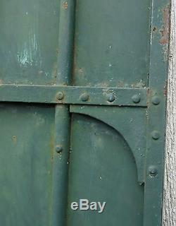 ANCIENNE PORTE de PROPRIÉTÉ, ancienne grande porte en métal, jardin, FERRONNERIE