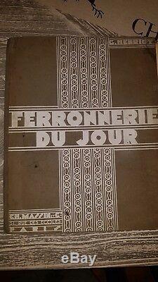 ANCIEN LIVRE FERRONNERIE FER FORGE SUBES POILLERAT brandt ART DECO