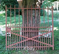 ANCIEN PORTAIL de PROPRIÉTÉ, ancienne porte en métal, maison, jardin, FERRONNERIE