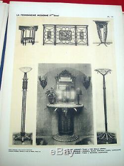 ART DECO ARCHITECTURE Ferronnerie Moderne 1 CLOUZOT 1925 PROUVE BRANDT MAJORELLE