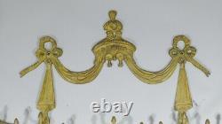 Accroche Torchons Ou Serviettes En Bronze De Style Louis XVI Au Dais Drapé