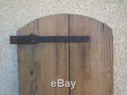 Adorable petite porte ancienne bois sapin chalet niche deco vintage france