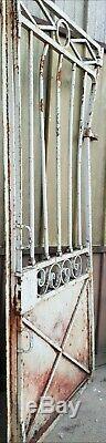 Ancien Portail, Portes / Avec Fronton / Fer Forgé. 105, 100 cm H 345 cm