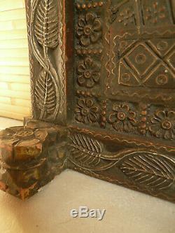 Ancien cadre/ miror indien 74 x 91 cm