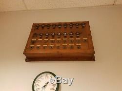 Ancien central téléphonique xx siècle bois et laiton