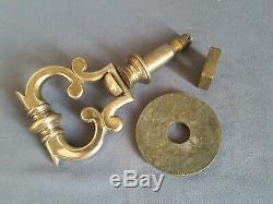 ++ Ancien heurtoir de porte bronze argenté 19eme complet bel état door knocker +