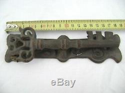 Ancien heurtoir de porte en fer forgé en forme de clé (vers 1800 UNIQUE)