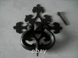 Ancien heurtoir de porte ou marteau fer forge GOTHIQUE