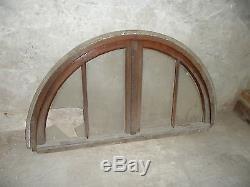 Ancien imposte de dessus de fenêtre ou porte en chêne