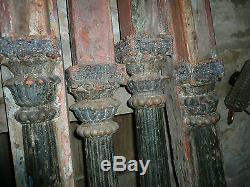 Ancien lot 4 colonnes / arche triple indienne