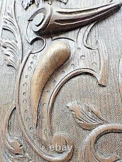 Ancien panneau de porte-Corne d'abondance-bois sculpté massif- carved wood