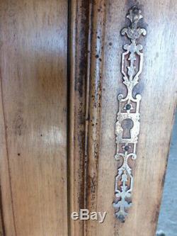 Ancien panneau de porte de meuble en bois sculpté Roméo et Juliette. SUPERBE