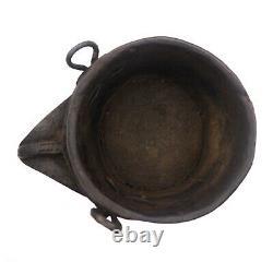 Ancien pot à lait sculpté Népal 19e