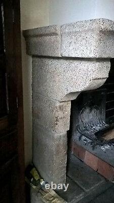 Ancienne Cheminée en Granit Provenance Bretagne Début XXème