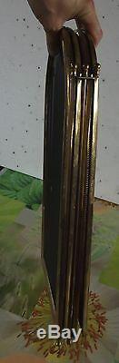 Ancienne Grille de Cheminée laiton à 4 volets pliants Vintage 1970
