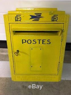 Ancienne Grosse Boite A Lettres Réformée Ptt La Poste Dejoi Loft Indus 1974