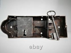 Ancienne Grosse Serrure Fer Forgé XIX, Porte, Clé, Portail, Antique Lock Door, Castle
