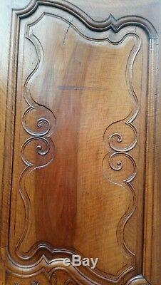 Ancienne Paire De Portes D'armoire En Noyer (maringues)