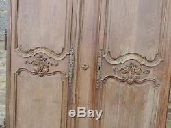 Ancienne Paire Porte Armoire 18eme Louis XIV Regence Richement Sculptee Xviiieme