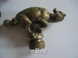 Ancienne Poignee Bronze Dragon