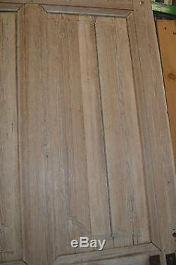 Ancienne Porte D'entree En Sapin / 98 Cms De Large X 206 Cms De Haut
