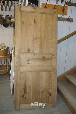 Ancienne Porte En Pitchpin / 77.5 Cms De Large X 187 Cms De Haut
