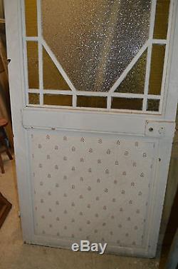Ancienne Porte Vitree En Pitchpin / 97 Cms De Large X 219 Cms De Haut