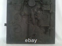 Ancienne Serrure XVIII Siècle en Fer Forgé Art Populaire coffre fort nuremberg