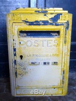 Ancienne boîte aux lettres ancienne PTT 1950 vintage Dejoie