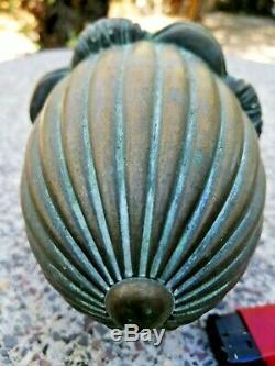 Ancienne boule d'escalier en bronze forme originale 19ème
