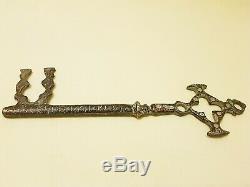 Ancienne clé en laiton d'une église arménienne (18e siècle)
