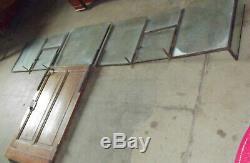 Ancienne cloison guichet vitrée en chêne ancien bureau de Poste ou de magasin