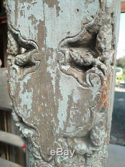 Ancienne colonne indienne bleue