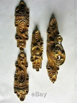Ancienne cremone bronze poignee porte fenetre chateau maison maitre RG