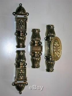 Ancienne cremone bronze poignee porte fenetre deco chateau maison FT