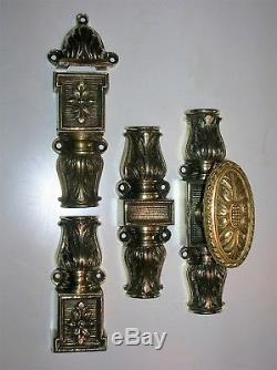Ancienne cremone bronze poignee porte fenetre deco chateau maison maitre FT