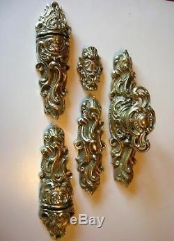 Ancienne cremone bronze poignee porte fenetre deco chateau maison maitre N°2