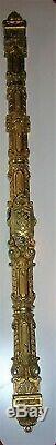 Ancienne cremone bronze poignee porte fenetre deco chateau maison maitre RG