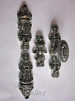 Ancienne cremone bronze poignee porte fenetre deco chateau maison maitre ST