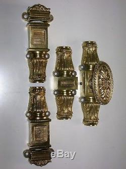 Ancienne cremone bronze poignee porte fenetre quincaillerie chateau maison