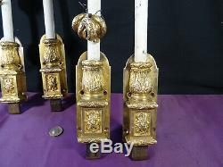 Ancienne crémones de porte XIXéme bronze et métal