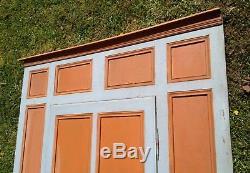 Ancienne facade de placard, boiserie et moulures, XIX ème, sapin 253 X 168 cm