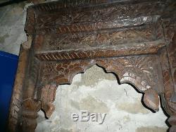 Ancienne fenetre arche triple indienne