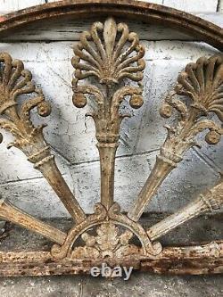 Ancienne imposte Aux Palmettes Fonte Dépoque Empire