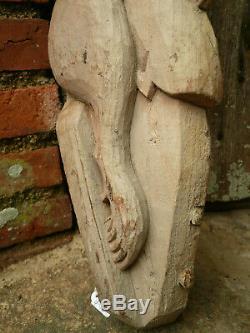 Ancienne paire de corbeaux sculpté en bois / Inde