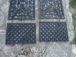 Ancienne paire de grilles de protection de portes fonte Napoléon III XIXéme